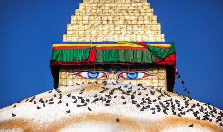 Buddha eyes on Bodhnath stupa
