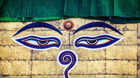 Buddha eyes on Swayambhunath stupa