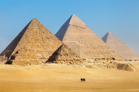 View of the Pyramids near Cairo city in Egypt...