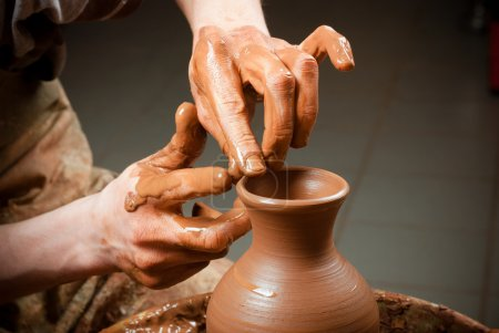 potter at work