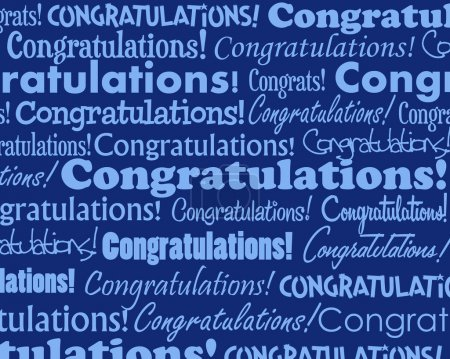 Illustration for Grouped collection of different Congratulations text - Royalty Free Image