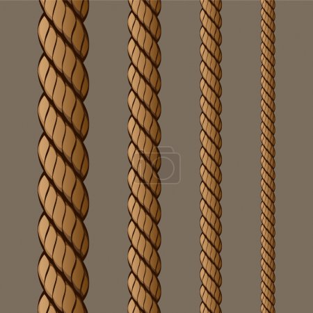Illustration for Rope Set 1 Vector Drawing - Royalty Free Image