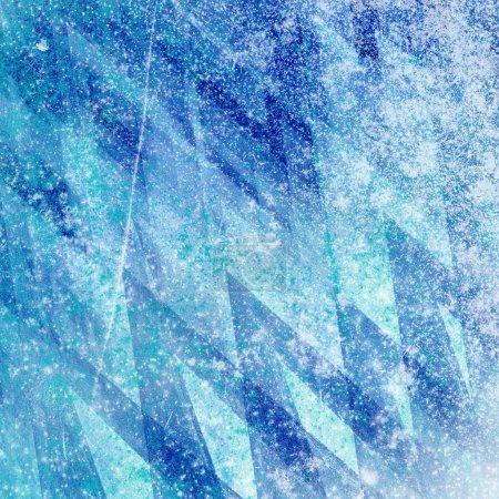 Foto de Fondo grunge helada, hielo shabby con textura, textura abstracta del hielo, congelado fondo, fondo de hielo azul, el fondo del agua congelada - Imagen libre de derechos
