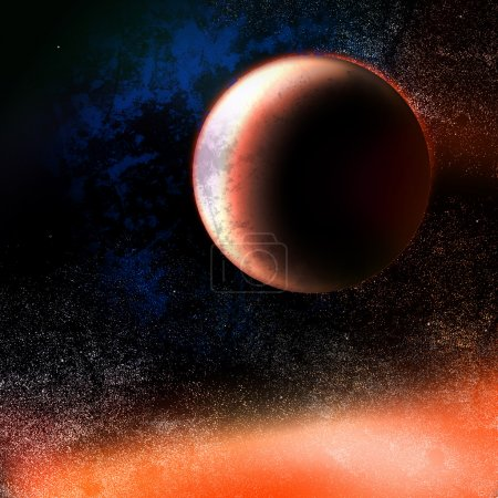 Mars planet illustration, space planet