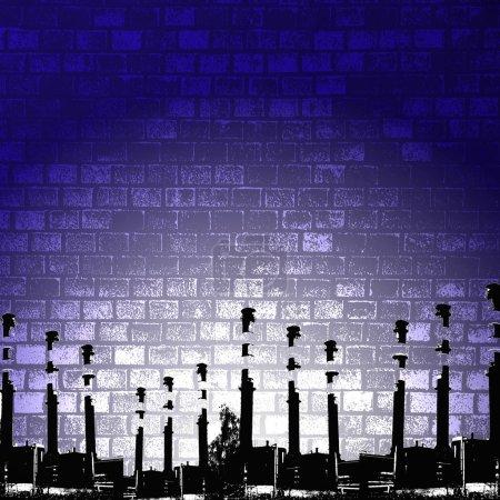 Photo pour Silhouette grunge, illustration de fond de l'industrie . - image libre de droit