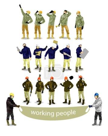 Vector working people