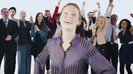 Skupina lidí, šťastný a rozmanité obchodní