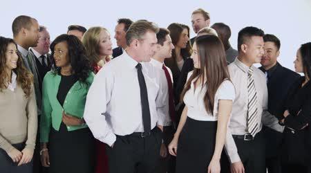 šťastný, různorodá skupina podnikatelů
