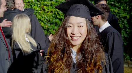 Female graduate on graduation day
