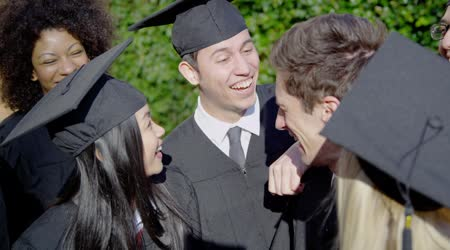 Group of friends on graduation day