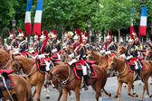 PARIS - JULY 14: Cavalry at a military parade in the Republic Da