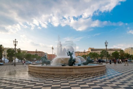 Photo pour Place massena Plaza dans la ville de nice, france - image libre de droit