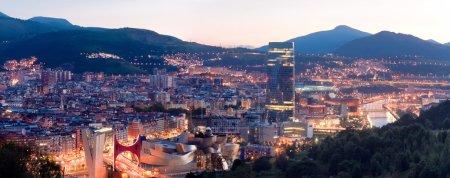 View of city Bilbao, Spain...