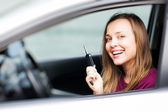 Auto řidiče žena