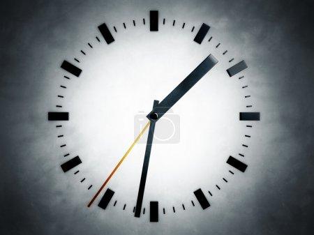 Photo pour Représentation d'une horloge, faisant référence à des notions telles que le temps, la progression, la précision, la rapidité, la gestion de projet, ainsi que les délais et le compte à rebours - image libre de droit
