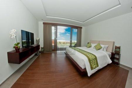 Tropical villa bedroom