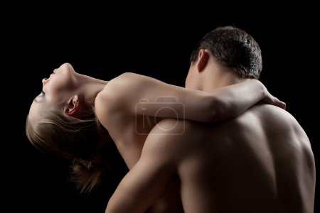 Young Couple having sex in dark