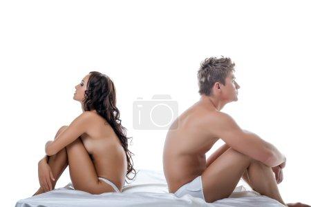 Concept of crisis in relationships between lovers