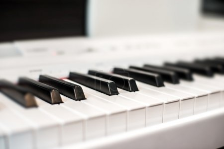 Photo pour Touches du piano noir et blancs - image libre de droit