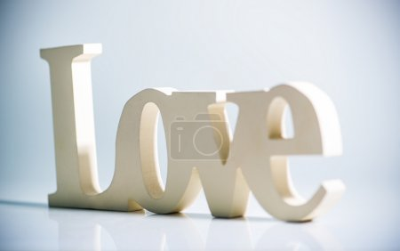 Photo for The word love with reflection - Royalty Free Image
