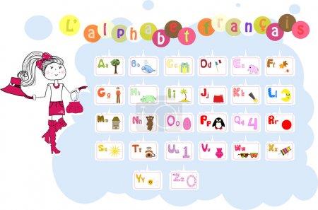 French illustrated alphabet / L'alphabet francais