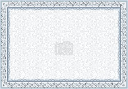 Illustration for Vector certificate with sample and outlined text. Perfect for any formal certificate - Royalty Free Image