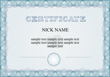 Vector certificate with sample and outlined text. ...