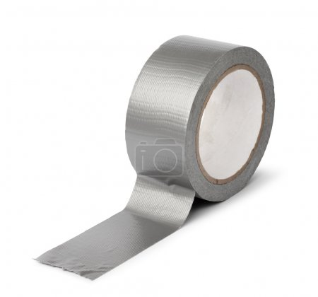 Photo for Duct tape roll silver repair reel isolated - Royalty Free Image