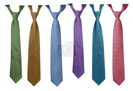 collection de cravates colorées