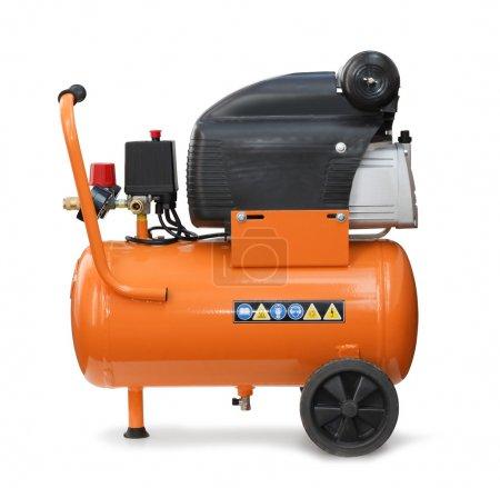 Photo pour Compresseur pression pompe pneumatique isolé - image libre de droit