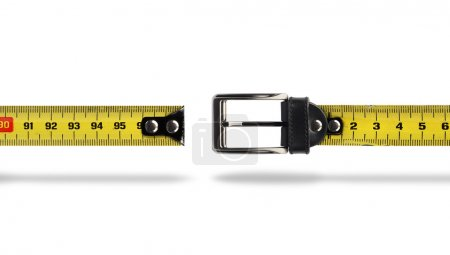 Weight loss measure belt gap