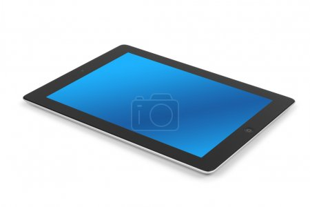 Photo for Tablet computer isolated on white background - Royalty Free Image