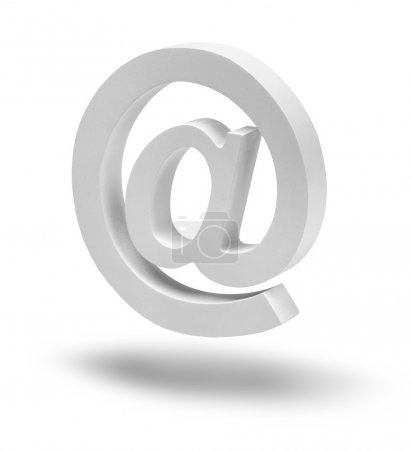 E-mail sign symbol floating isolated