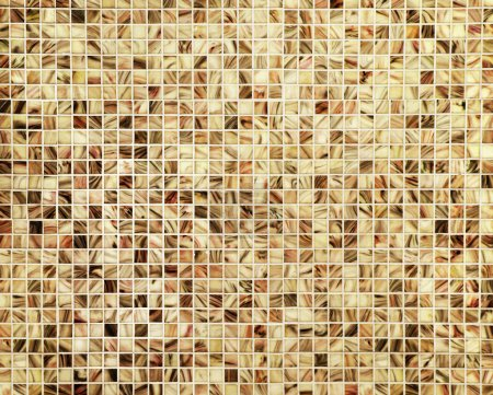 Photo for Marble mosaic floor tiles geometric decoration background - Royalty Free Image