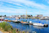 Port Townsend, WA. Downtown marina with boats and historical buildings.