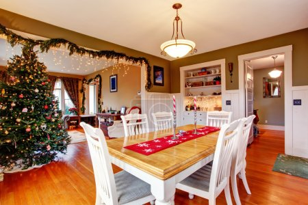 Photo for Beatifully decorated dining and living room on Christmas eve - Royalty Free Image