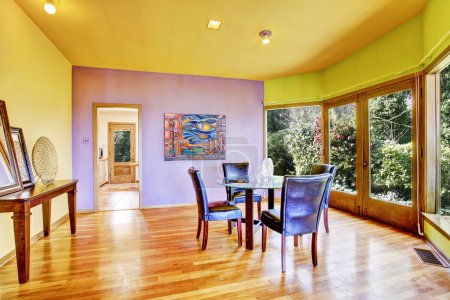 Bright colorful dining room