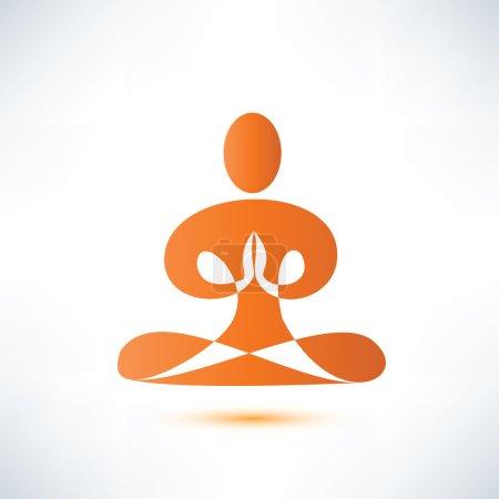 Illustration for Yoga, meditation vector symbol - Royalty Free Image