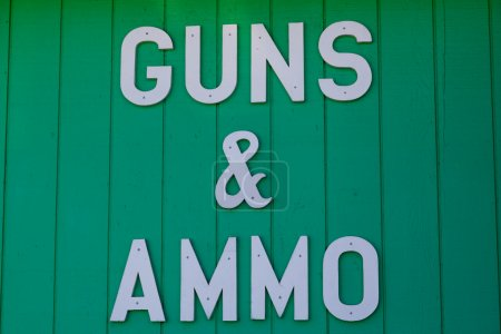 Guns and Ammo Sign