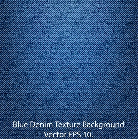 Illustration for Blue Denim Texture Background, Vector EPS 10. - Royalty Free Image