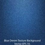 Blue Denim Texture Background, Vector EPS 10.