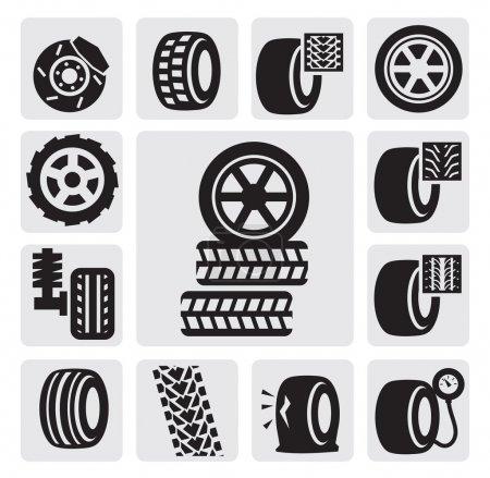 icônes de pneu