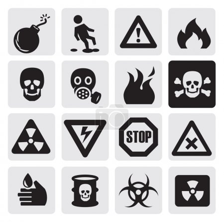 Danger icons