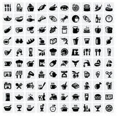 """Постер, картина, фотообои """"набор иконок продовольственной"""""""