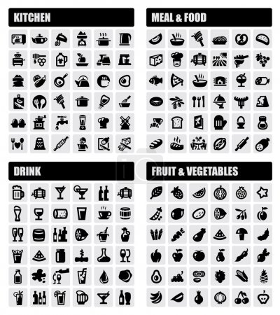 Beverage, food, kitchen icons