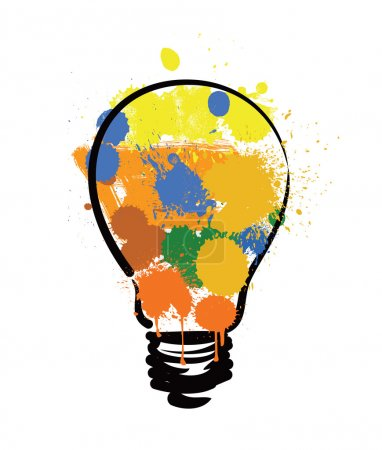 Bulb with paint