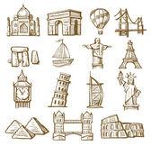 Hand drawn landmarks