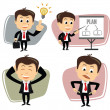 Vector businessman in various poses...