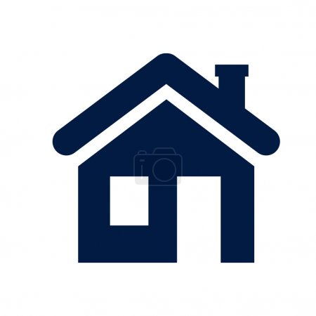 Illustration for House icon - Royalty Free Image
