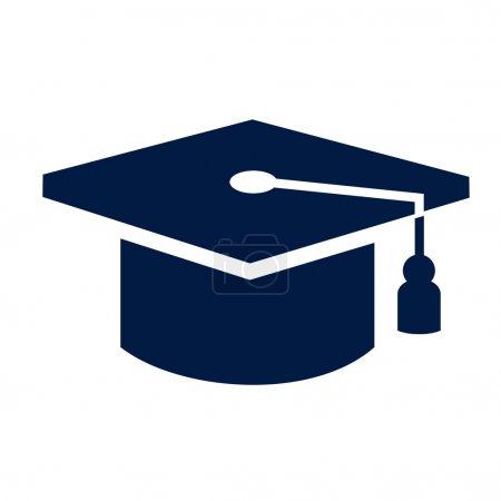 Illustration for Graduation cap icon - Royalty Free Image